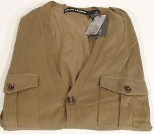 NWT Ralph Lauren Black Label Olive Cardigan Sweater 4 Pocket Sz. L  C2E