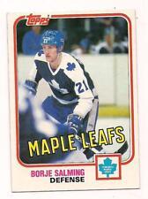 1981/2 Topps HOF Borje Salming Toronto Maple Leafs #33