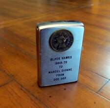 1969-1970 MARCEL DIONNE PERSONAL GIFTED BLACK HAWKS ZIPPO LIGHTER