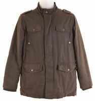 MASSIMO DUTTI Boys Windbreaker Jacket 13-14 Years Brown Cotton  A106