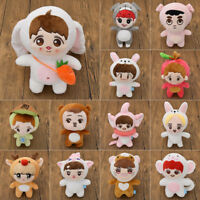 Kpop EXO Plush Cartoon Dolls Animal Stuffed Toy Baek Hyun Chan Yeol Kai Luhan