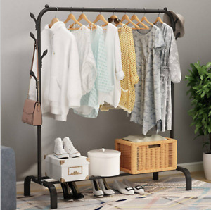 Clothes Rail Heavy Duty Metal Storage Garment Shelf Hanging Display Stand Rack