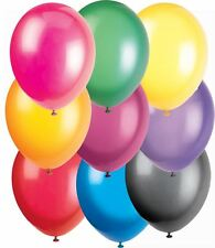 50 Biodegradable Crystal Assorted colours Helium Balloons, 12""