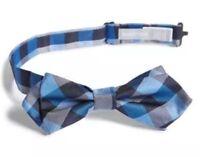 Nordstrom Purple /'Popsicle/' Plaid Cotton /& Silk Bow Tie 4219