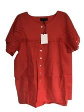 Hatch Maternity Women's THE PILAR TOP Candy Red Cotton Size 1 (S/4-6) NEW