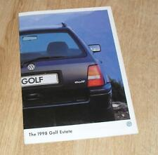 Volkswagen VW Golf Estate Brochure 1998 1.9 L Diesel 1.9 TDI CL 1.8 CL 2.0 GL