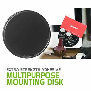 """Extra Strength Adhesive Mounting Disk Phone Holder 3.25"""" Apple Samsung."""