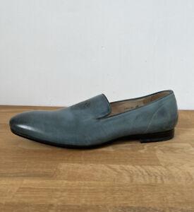 Alexander Mcqueen 286164 Green Leather Embossed Skull Loafers Size UK 10 EU 44