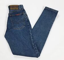 America jeans mom hot W26 tg 40 blu skinny carota sexy vintage usati donna T2113