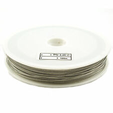 100m Silver Tigertail Wire 0.45mm - Beading Wire Jewellery Making