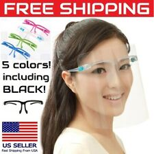 10 Face Shields Full Protection Frame Clear / Mixed Color Glasses Mask Protector