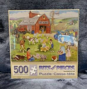 """""""Ames Farm"""" by Kay Lamb Shannon Bits & Pieces 500 Piece Puzzle Brand NEW Sealed"""