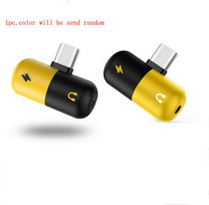 Type C to 3.5 mm and Charger 2 in 1 Headphone AUX Audio Jack USB-C Cable Adapter