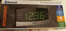 "Sylvania SCR1989BT 1.8"" Jumbo Digit Clock with AM/FM Radio, Bluetooth"