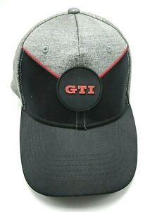 VW GTI hat licensed gray adjustable cap Volkswagen