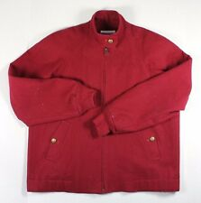 Vintage Womens Pendleton Wool Zipper Jacket Red Size Small Made USA