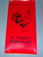 VINTAGE THE CHANTICLEER RESTAURANT  ROOSTER     MENU