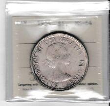 Canada 1954 1 dollar silver ICCS MS-64