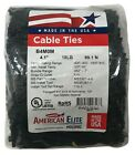 """1000 Black 4"""" Inch Nylon Cable Wire Wrap Zip Ties 18 LBS UV Resistant - USA"""
