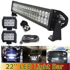 20 22Inch LED Work Light Bar  + 4inch Pods for Ford SUV ATV UTE Offroad JK