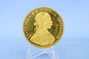 Österreich 4 Dukaten 1915 Franz Josef * 13,94 Gramm - 986 Gold * Vz +