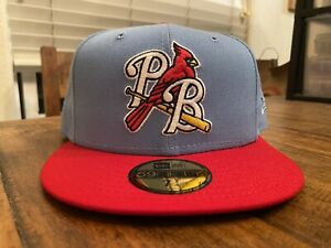 Palm Beach Cardinals Sky Blue Scarlet New Era Fitted Hat 7 3/4 St. Louis Gray UV