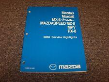 2005 Mazda Mazdaspeed MX5 Miata Convertible Service Highlights Repair Manual
