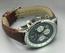 Men's Rotary Chronograph Brown Leather Strap Watch brand NEW in box