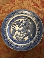 Blue and White Willow Pattern Dinner Plate