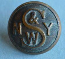 New York Susquehanna & Western Railway Uniform Button American Ry Supply Co