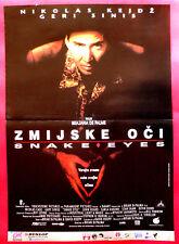 Snake Eyes 1998 Nicolas Cage Gary Sinise Brian De Palma Unique Exyu Movie Poster