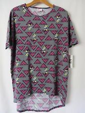 Lularoe Irma DISNEY Shirt Half Sleeve Triangle Minnie Mouse Print XXS #5281