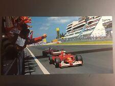 2003 Ferrari Barrichello & Schumacher F1 Race Car Print Picture Poster RARE!!