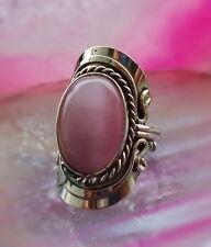 rosa Ethno Inka Maya Native american Style Ring Alpaca Silver Cat Eye Cat's Eye