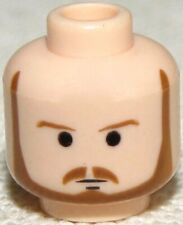 LEGO NEW QUI GON JINN FLESH COLORED HEADS WITH BEARD PIECE