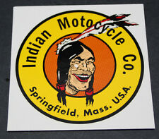 "NOS NEW old repro USA made 4-1/2"" - 6 color ""LAUGHING INDIAN"" DEALER DECAL"