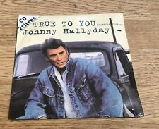 # Johnny HALLYDAY CD 2 titres True to you La guitare fait mal 1992 NEUF SCELLÉ