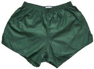 Dark Green Nylon Shorts by Soffe - Size Small