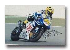 VALENTINO Rossi Firmato a Mano 12X8 foto-MotoGP Autografo-YAMAHA 4.