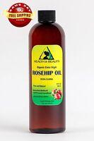 ROSEHIP SEED OIL UNREFINED ORGANIC EXTRA VIRGIN COLD PRESSED PREMIUM PURE 24 OZ