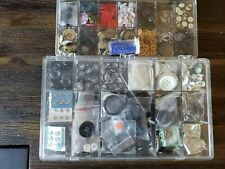 TWO PLASTIC BOXES W. LARGE NUMBER OF ASSORTED BUTTONS - NEW!