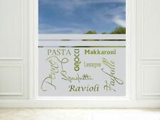 Sichtschutzfolie Küche Pasta Ravioli blickdichte Fensterfolie Küchenfenster Tür