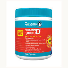 Carusos Vitamin 1000IU D3 Capsules 500 Easy to swallow