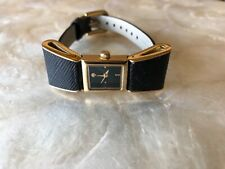 NEW KATE SPADE - Ken Marl BLACK + GOLD RIBBON WATCH