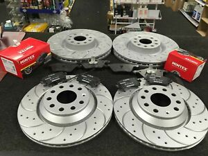 FOR VW GOLF R MK7 2.0 DSG GTI PERFORMANCE CLUBSPORT EDITION 40 BRAKE DISCS PADS
