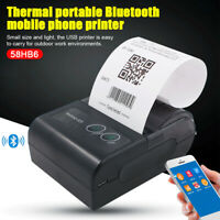 USB+Bluetooth Wireless Thermal Pocket Printer Shipping Address Mobile POS Barcod