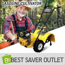 196cc 6.5HP Shogun Gasoline Cultivator Tiller Rotary Hoe Rototiller Yellow