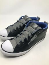 Men's Converse All Star Leather Shoes Size 6 Black/Baby Blue/green/gray