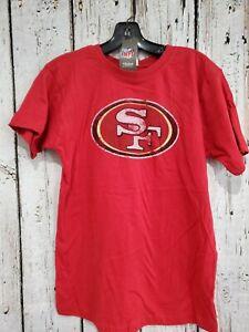 LZ Reebok Youth Medium San Francisco 49ers Short Sleeve Tee Shirt T-Shirt NEW