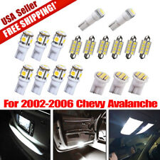 18X Pure White Interior LED Light Package Deal Kit For 2002-2006 Chevy Avalanche